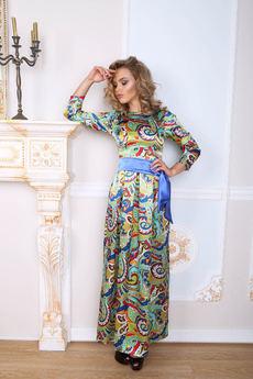 Длинное шелковое платье Open-Style