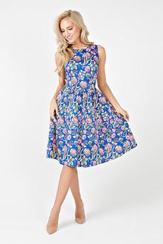 Летнее синее платье Angela Ricci