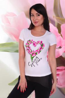 Белая футболка с сердцем Натали